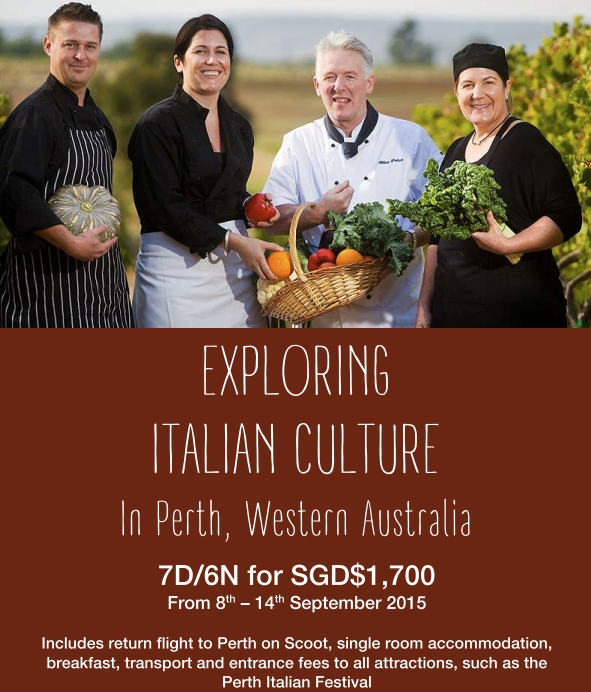 Singaporetravelmap: Italian Gourmet & Civilization Tour To Perth, Australia